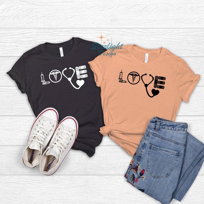 Gearhuman – Love Nurse T-shirt RN Shirt Nurse T-shirt Nurse Life Tee – 3D Tshirt – TH-0069