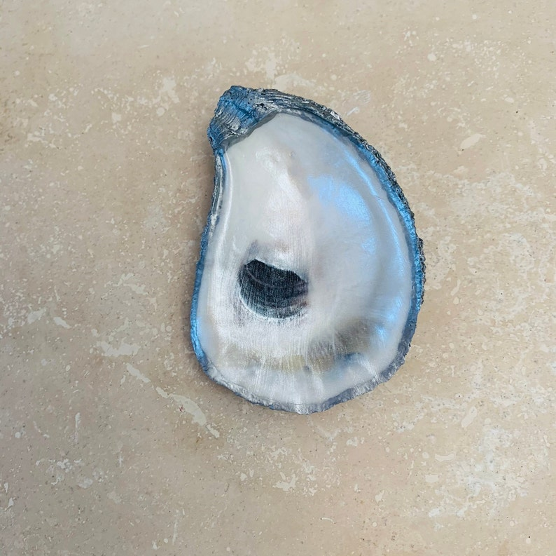 Silver Oyster Shell Ring Dish
