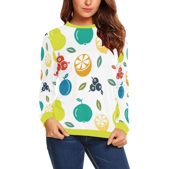 Discontinued!! .. Discontinued!! .. Summer Fruit Women's Long Sleeve Shirt , Yellow
