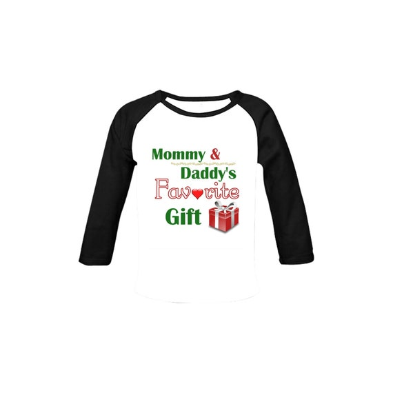 Mommy and Daddy's Favorite Gift Baby Organic Long Sleeve Christmas Shirt