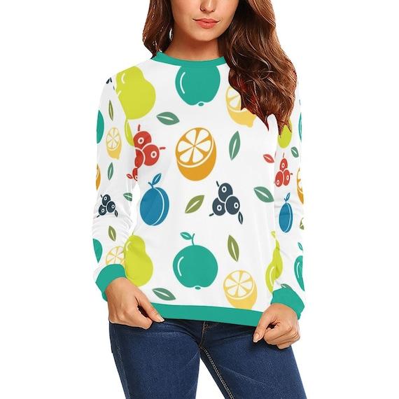 Discontinued!! .. Summer Fruit Women's Long Sleeve Shirt , Green