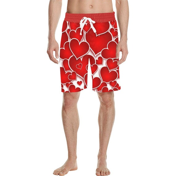Red Hearts Men's  Casual Shorts