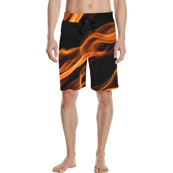 Fire Flame Men's  Casual Shorts