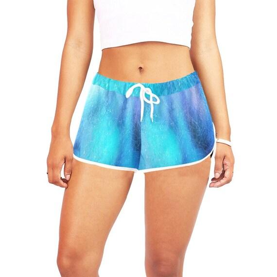 Blue Tie Dye Look  Women's  Casual Shorts