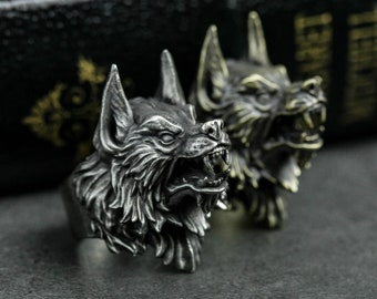 Werewolf Ring Totem, Werewolf Ring,Animal Jewelry, Wolf Ring,Werewolf Jewelry