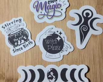 Halloween Witchy Stickers 5pk