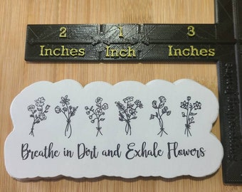 Flower Quote Sticker
