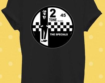 2 Tone T-shirt THE SPECIALS Original Rude Boy deux tons 2 Tone Records Unisexe