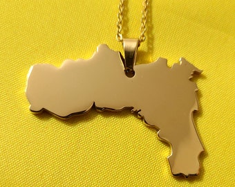 Gold Okinawa Necklace,Japan Necklace,Personalized Map Necklace,Custom Any Country Map Necklace,Specific Map Necklace,Worldwide Map Necklace