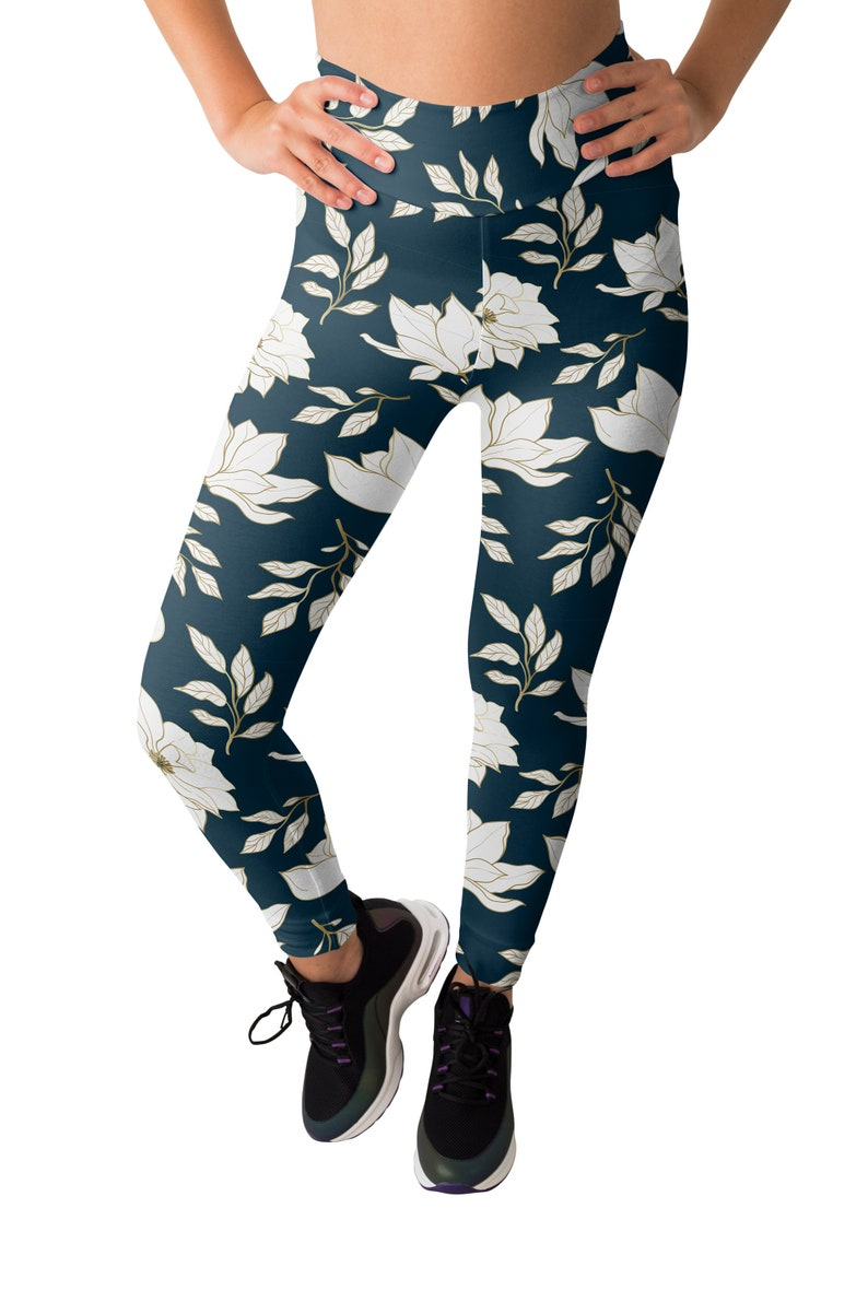 Cool Spring outfit for her Floral Lady High Waisted Legging+Crop Top Set,Super Comfortable Sublimation set for yoga and fitness for girls