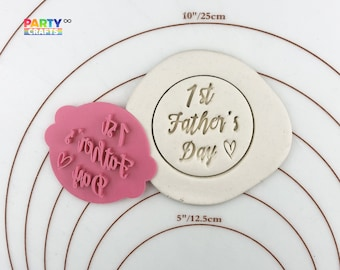 Personalized Happy Birthday Fondant Cookie Cutter and Stamp #1123