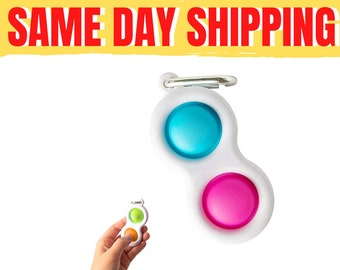 HAOCAI Simple Fidget Dimple Toy Early Educational Toy,Brain Development Toy for Kids Adults Silicone Sensory Toy Keychain Stress Relief Hand Toy
