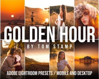 8 Mobile LIGHTROOM Presets, Desktop presets, Golden Hour Presets, Instagram Filters, Lightroom Presets, Summer Preset, Warm Preset