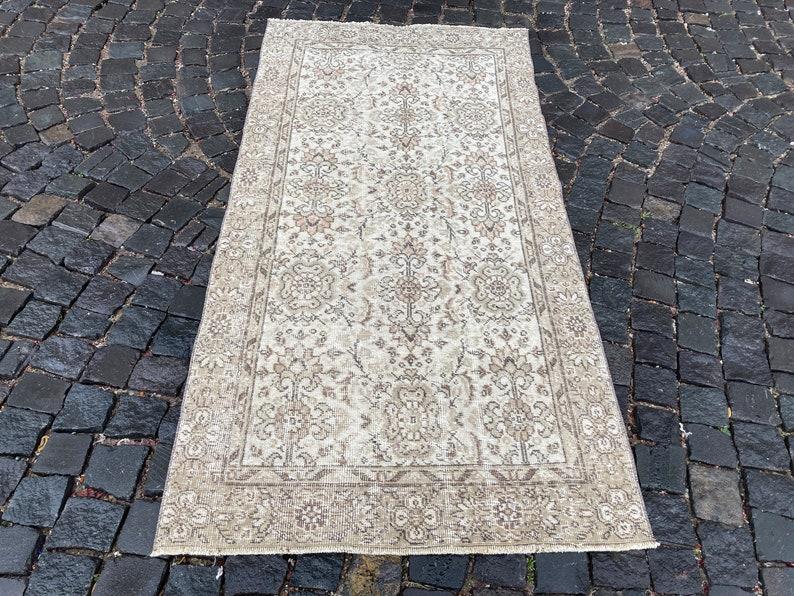 Vintage rug Carpet Turkish rug Kilim Handmade rug Bohemian rugs Wool rug Oushak rugs 100 x 200 cm = 3,2 x 6,5 ft Area rug
