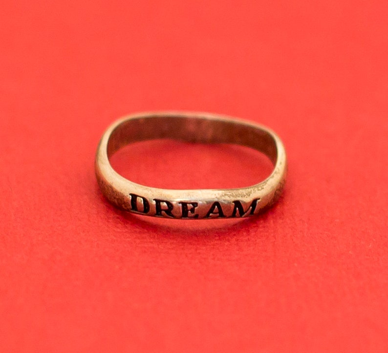 F5 Word Dream Ring Sterling Silver Avon Size 8