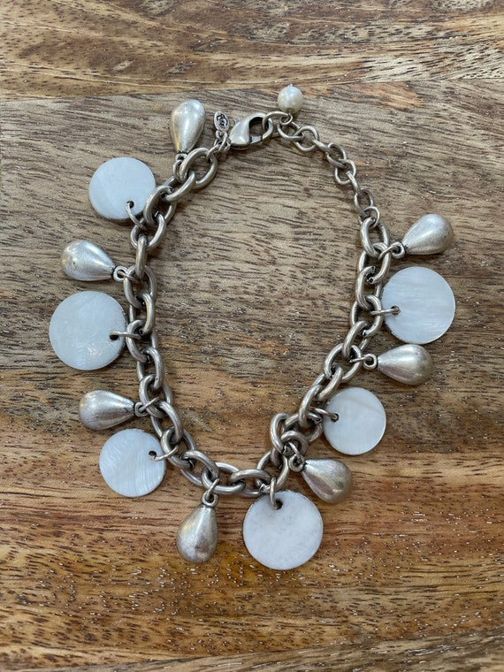 White Linen Bracelet
