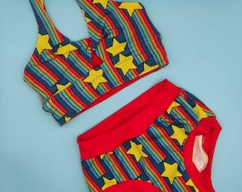 Crossover Bralette & Scrundies Set - Super Comfy Pants - soft bra - Knickers - Underwear - underpants - lingerie