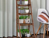 Strong Wooden 3 4 Tiers Ladder Rack Wooden Bookshelf Storage Rack Foldable Plant Stand