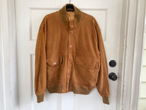 Vintage Suede Coat Made in Italy 60s Jacket
