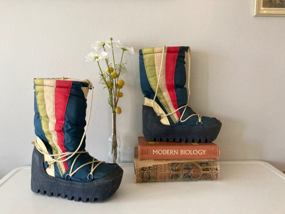 Freakin' Sweet 80s Vintage Winter Snow Boots