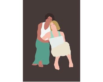 Bette & Tina - The L Word - Digital Print