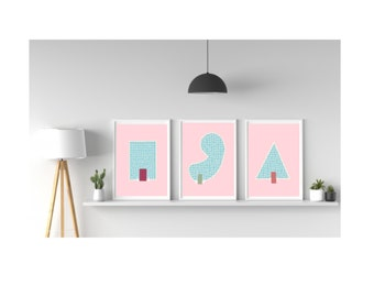 Swimming Pool - Graphic Print - Pack Of 3