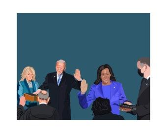 President Biden & VP Harris Inauguration Day - Graphic Print