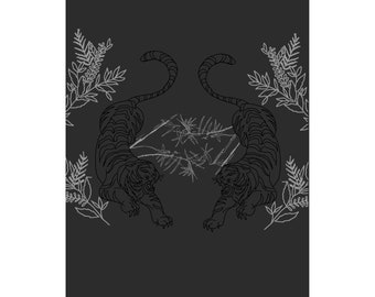 Bamboo & Tiger - Graphic Print