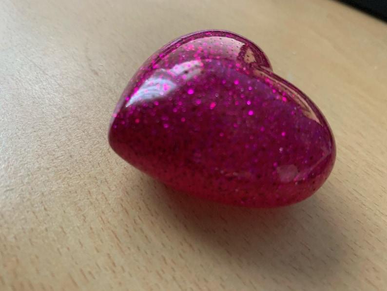 Small Resin Heart Charm