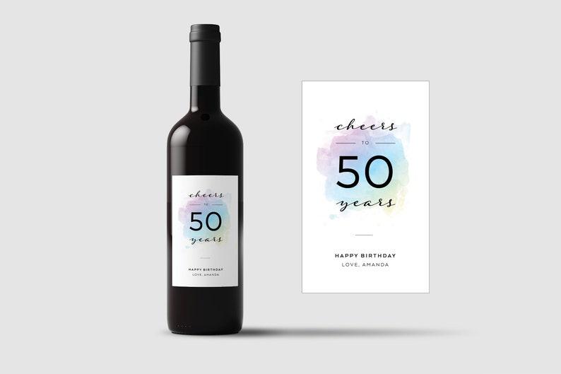Set of 4 \u2022 Birthday Wine Label \u2022 Custom Wine Label \u2022 Personalized Wine Label \u2022 Birthday Gift \u2022 WB001
