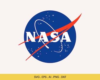 Nasa Monogram SVG Nasa logo svg SVG Files Silhouette Cut Files Cricut Cut Files. Nasa SVG