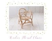 Photography Prop,Newborn prop, Flower chair, wicker newborn chair,bamboo chair, bamboo prop,wicker prop in canada,newborn wicker prop,