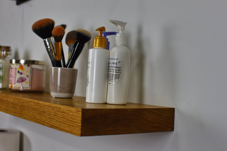 Floating Makeup Shelf Open Shelf Bathroom Vanity Purse Shelf Makeup Shelves Vanity Shelves Bathroom Vanity Shelf Floating Vanity Shelf