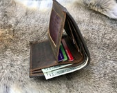 TRIFOLD MENS WALLET, Men 39 s Leather Trifold Wallet, Personalized Mens Wallet, Leather Wallet Holds Lots of Money