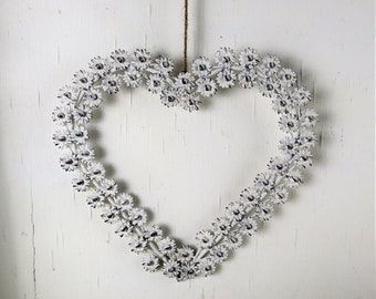 Window decoration heart large metal, country style, garden decoration