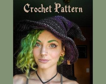 Slouchy Witch Hat Crochet Pattern