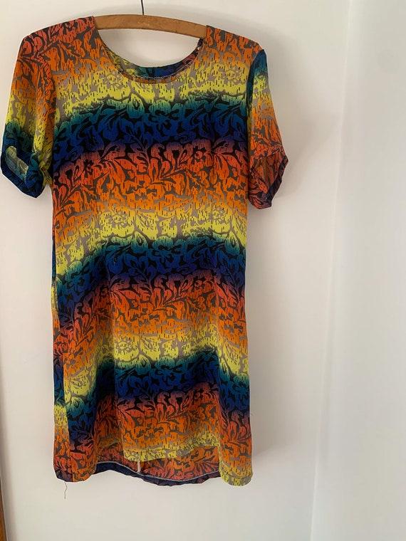 Insane VINTAGE Rainbow Rave Tshirt Dress
