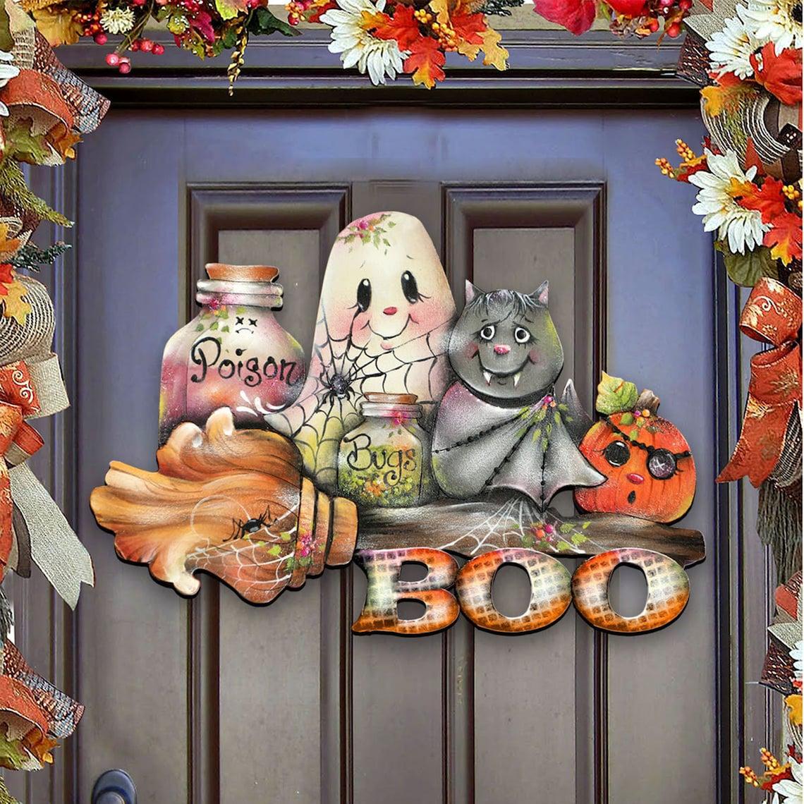 Halloween Wooden Pumpkin Decoration image 0