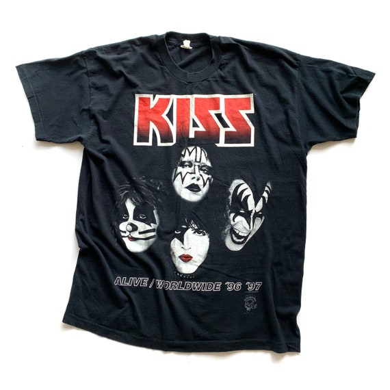 Vintage 1990's KISS Alive/Worldwide T-Shirt