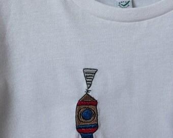 Children's art on children's shirts