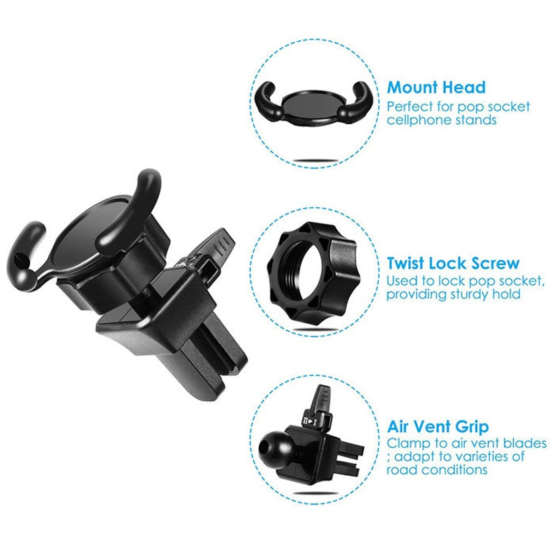 Universal Car Air Vent Phone Mount Holder Clip For Pop Out Phone Sockets