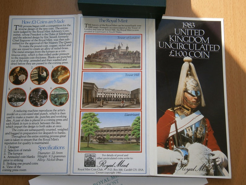 Brilliant Uncirculated,Collector/'s edition! 1 Pound Coin 1983