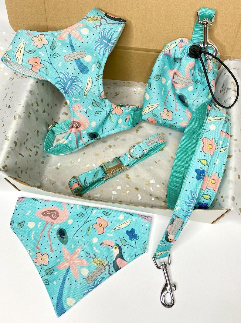 Dog lead 120 cm 150 cm 180 cm Tropical Print Dog Leash Handmade Leash Tropical Dog Leash Dog Accessories| Girl Boy Dog Leash