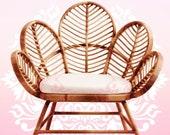 Rattan chair rattan chair wicker rattan home decor Lounge beach Arm chair Rattan furniture