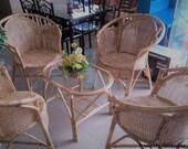 Rattan chair and table set rattan chair wicker rattan home decor Lounge beach Arm chair Rattan furniture