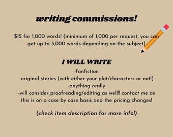 Writing Commissions!