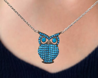 Sequined owl necklacecollar owl necklace sequin necklace Christmas jewel Christmas gift Noel necklace galaxy necklace