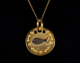 Gold Plated Pendant Matt Gold Plated Fish Oval Pendant Medallion Pendant Bzm07 24x34mm Fish Pendant Oval Pendants See Pendant