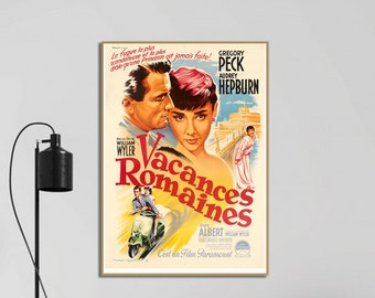 Roman Holiday (1954) French Movie Poster ,Wall Art, Home Decor