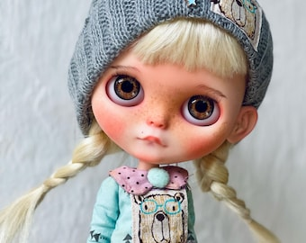 Blythe custom doll,reroot natural hair,Obitsu24,ooak collectible personalized artist doll